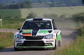 Skoda Auto Deutschland GmbH: SKODA Pilot Kreim fährt scharfen Test für die ADAC Rallye Deutschland