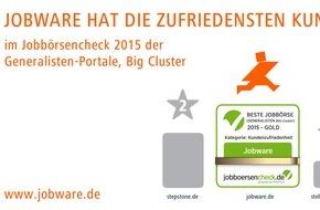 Jobware Online-Service GmbH: Jobware hat die zufriedensten Kunden / JOBBOERSENCHECK.de: Beste Jobbörse aus Arbeitgebersicht
