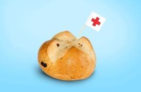 Schweizerisches Rotes Kreuz Kanton Zürich: Weltrotkreuztag in Zürich: Bäckereien verkaufen erstmals «Brotkreuze» zu Ehren von Henry Dunant, Sarah Meier und Nubya am HB Zürich als Rotkreuz-Fans