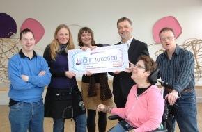 Migros-Genossenschafts-Bund Direktion Kultur und Soziales: Migros-Kulturprozent: 1. Preisverleihung für Gesundheitsförderungsprojekte für Menschen mit Behinderung  meingleichgewicht-Award für Kreativwerkstätte Rauti
