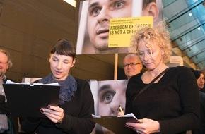 Amnesty International: Freiheit für Oleg Sentsov! - Meret Becker und Katja Riemann setzen sich gemeinsam mit Amnesty und der European Film Academy sowie der Deutschen Filmakademie für den inhaftierten Filmregisseur ein