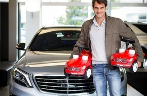 Mercedes-Benz Schweiz AG: Ein perfektes Doppel / Roger Federer ist Markenbotschafter von Mercedes-Benz Schweiz