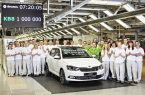 Skoda Auto Deutschland GmbH: Meilenstein erreicht: SKODA produziert erstmals 1 Million Fahrzeuge in einem Jahr