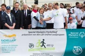 Coca-Cola Deutschland: Startschuss mit Lift Unified Laufgruppen zum Special Olympics Fackellauf 2014