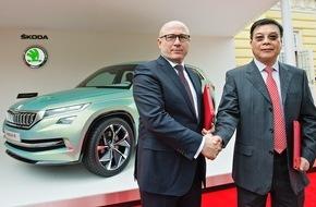 Skoda Auto Deutschland GmbH: SKODA stärkt Präsenz im Reich der Mitte
