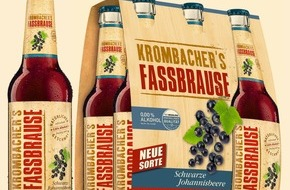 Krombacher Brauerei GmbH & Co.: JETZT NEU: KROMBACHER'S FASSBRAUSE Schwarze Johannisbeere