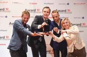 Award Corporate Communications: Award Corporate Communications® 2014 geht an Eclat/Rod Kommunikation für SBB und Swiss Life