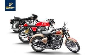 Tchibo GmbH: Die Königin gibt sich die Ehre: Royal Enfield Motorräder jetzt bei Tchibo