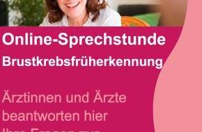 Kooperationsgemeinschaft Mammographie: Chancen zur Früherkennung nutzen: Online-Sprechstunde im Brustkrebsmonat Oktober (mit Bild)