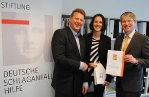 Stiftung Deutsche Schlaganfall-Hilfe: Ausgezeichnete Spendenverwendung / Schlaganfall-Hilfe arbeitet transparent