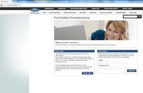 Ford-Werke GmbH: Ford Online-Terminbuchung wird flächendeckend angeboten: Service-Dienstleistungen bei rund 1.000 Ford Partnern online buchbar