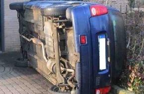 Polizeipressestelle Rhein-Erft-Kreis: POL-REK: Unbekannte kippten Auto auf die Seite - ELSDORF