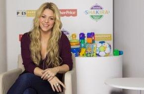 Mattel GmbH: Fisher-Price startet globale Partnerschaft mit Shakira und der Barefoot Foundation