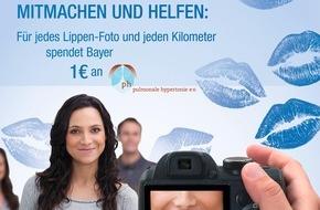 """Bayer Vital GmbH: Welt-PH-Tag am 5. Mai: Atemnot kann Hinweis auf Lungenhochdruck sein / Aktion """"Blaue Lippen"""" macht in PH-Expertenzentren auf  Lungenhochdruck (pulmonale Hypertonie, PH) aufmerksam"""