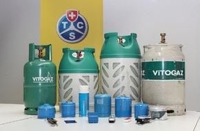 Touring Club Schweiz/Suisse/Svizzero - TCS: TCS Caravan Gas Control: le gaz liquide en toute sécurité