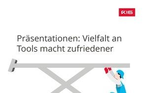 K16 GmbH: GfK-Studie: Bei der Präsentationsgestaltung fehlt es an Mut und Innovation / 86,9 Prozent der B2B-Unternehmen setzen weiterhin vor allem auf PowerPoint, andere Tools weit abgeschlagen