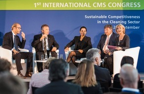 "Messe Berlin GmbH: CMS 2015 Berlin - Cleaning.Management.Services. / 22. bis 25. September 2015 / ""Mensch und Markt"" im Fokus des 2. Internationalen CMS Kongresses"