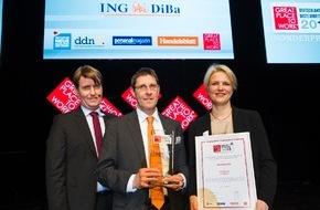 """ING-DiBa AG: Deutschlands beste Arbeitgeber 2015: ING-DiBa ganz vorn dabei / Auszeichnung mit dem Sonderpreis """"Diversity"""" für besondere Ausbildungschancen"""