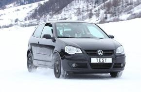 Touring Club Schweiz/Suisse/Svizzero - TCS: TCS-Wintertipps : Doppelter Bremsweg mit Sommerreifen auf Schnee