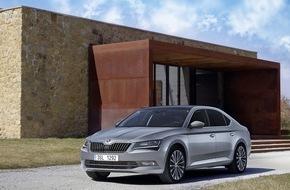 Skoda Auto Deutschland GmbH: SKODA Superb ist Restwertriese - geringster Wertverlust aller Mittelklassemodelle