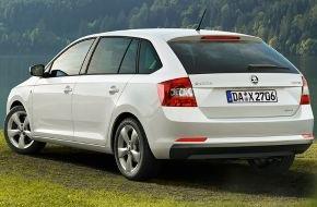 Skoda Auto Deutschland GmbH: SKODA Rapid: Limousine und Spaceback ab sofort als besonders sparsame GreenLine-Version erhältlich