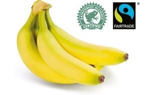 """LIDL: Nachhaltiges Bananensortiment bei Lidl / Ab Anfang April sind alle Bananen bei Lidl mit dem """"Rainforest Alliance""""- oder """"Fairtrade""""-Siegel ausgezeichnet"""
