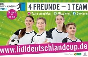 LIDL: Helden des Bolzplatzes aufgepasst: Der Lidl-Deutschlandcup sucht junge Fußball-Champions / Hans Sarpei und Mario Kotaska als Turnierpaten und Experten für die Themen Bewegung und bewusste Ernährung