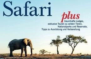 """Jahreszeiten Verlag, MERIAN: """"Safari - Abenteuer Afrika"""" / Am 25. Februar 2016 erscheint der neue MERIAN Safari"""