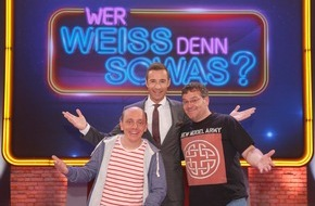 """ARD Das Erste: Das Erste: """"Wer weiß denn sowas?""""  Das schlaue Wissensspiel mit Bernhard Hoëcker und Elton im Ersten verabschiedet sich vorerst mit einer Top-Quote"""