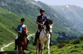Tourismusbüro Kühtai: Erfolgreiches Höhentraining für Pferde und geführte Trekkingtouren -  Pferde stehen im Kühtai hoch im Kurs