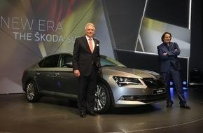 Skoda Auto Deutschland GmbH: Der neue SKODA Superb: Fotos von der Weltpremiere des neuen SKODA Flaggschiffs in Prag