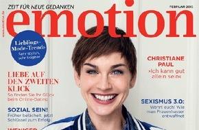 """EMOTION Verlag GmbH: Christiane Paul: """"Der Alltag als alleinerziehende Mutter ist zwischenzeitlich anstrengender als Drehen"""""""