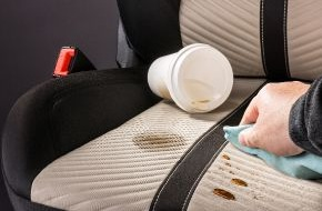 Johnson Controls Automotive Experience: FreshPer4mance coating from Johnson Controls makes automotive seat covers stain-resistant and antimicrobial / Removes dirt with one easy wipe, without leaving any marks