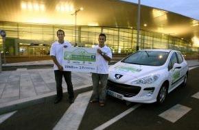 Peugeot Deutschland GmbH: Peugeot Umweltmeisterschaft / Siegerteam schaffte 2.060 Kilometer mit 60 Liter Diesel