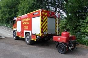 Feuerwehr Detmold: FW-DT: Feuer in Trafostation