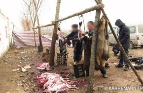 PETA Deutschland e.V.: Pelz - Made in China: Manfred Karremann und PETA enthüllen Tierquälerei für die aktuelle Wintermode / Recherche zeigt Chemieeinsatz und Tierleid in der Pelzproduktion