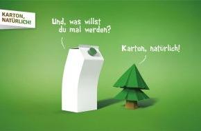"""Fachverband Kartonverpackung für flüssige Nahrungsmittel e.V.: """"Karton, natürlich"""": Getränkekartonhersteller starten Informationskampagne"""