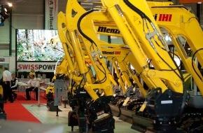BAUMAG: BAUMAG 2013 - Eröffnung des Schweizer Branchentreffpunkts / Starke Maschinen - kompetente Aussteller