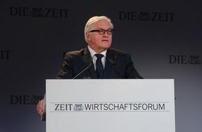 DIE ZEIT: Frank-Walter Steinmeier beim ZEIT Wirtschaftsforum: Wir brauchen in der Flüchtlingskrise mehr Europa