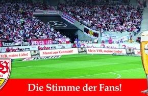 Krombacher Brauerei GmbH & Co.: Die Stimme der VfB Fans - Krombacher verzichtet in Stuttgart auf Bandenwerbung zugunsten von Fanbotschaften