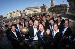 Hamburg Marketing GmbH: HSV Handball feiert ersten Champions League-Titel mit über 10.000 Fans