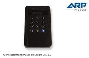 ARP Schweiz AG: Sichere Daten mit dem PIN-geschützen Festplattengehäuse von ARP