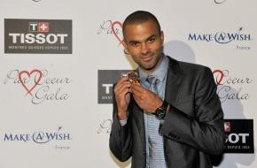 TISSOT S.A.: Tissot präsentiert bei der Par Coeur Gala in Lyon Tony Parker mit seiner Limited Edition Uhr