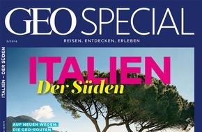 """Gruner+Jahr, GEO Special: GEO SPECIAL """"Italien - der Süden"""" ist ab sofort im Handel erhältlich"""