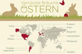 Idealo Internet GmbH: So feiert die Welt Ostern: 13 ausgefallene Festbräuche (mit Infografik)