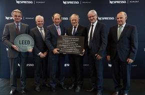 Nestlé Nespresso SA: Nespresso eröffnet drittes Produktionszentrum, um steigender Verbrauchernachfrage gerecht zu werden