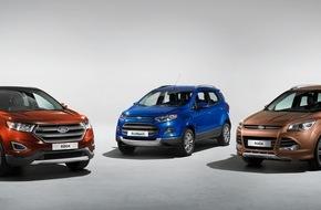 Ford-Werke GmbH: Europäische Version des Ford Edge debütiert auf der IAA - Ford will mit SUVs und Allradoptionen weiter wachsen