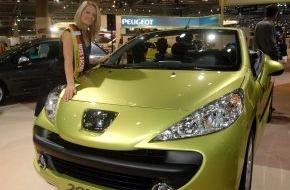 Peugeot Deutschland GmbH: Miss Sachsen fährt mit dem 207 CC in den Frühling - Bereits 7.600 Bestellungen für das neue Coupé-Cabriolet