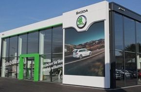 Skoda Auto Deutschland GmbH: Umstellung der SKODA Händler auf neues Corporate Design bundesweit voll in Fahrt