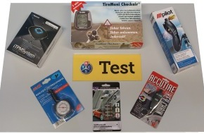 Touring Club Schweiz/Suisse/Svizzero - TCS: Test TCS de systèmes de contrôle de la pression des pneus: une pression trop basse est dommageable